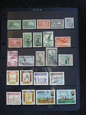 36 Used Stamps Liberia