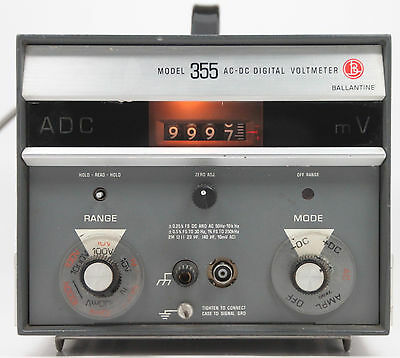 BALLANTINE model 355 AC DC Digital Voltmeter