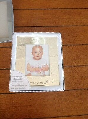 Silver Plated Baby Frame Engravable 3x5