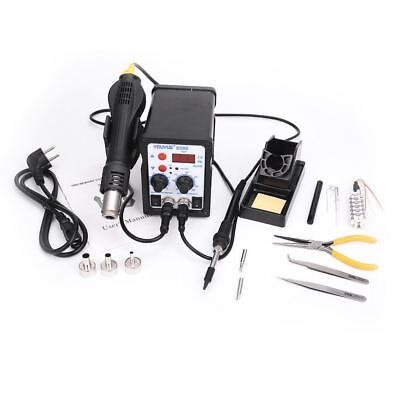 2 In 1 ESD Hot Air Gun Soldering Station Welding Solder Iron For IC SMD Desolder