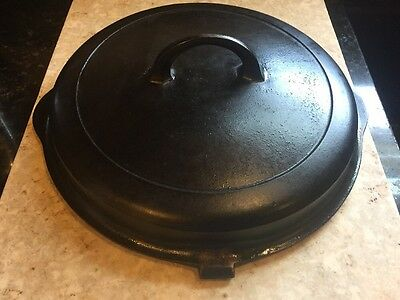 Griswold Cast Iron Hinged Chicken Fryer Lid Small Logo Needs Restoration