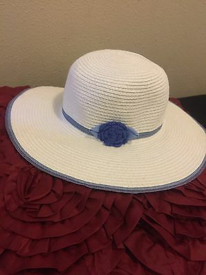 Janie And Jack Seaside Glamour Sun Hat Size 6-8