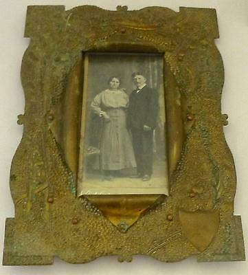 French Arts & Crafts/Art Nouveau Photo Frame: Trench Art