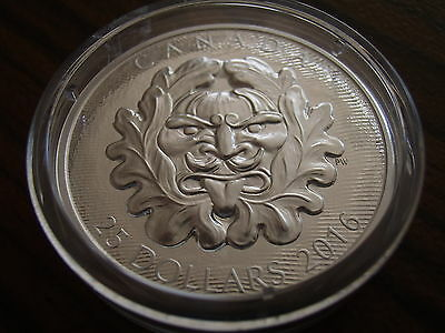 Canada 25 Dollars Silver 2016 Art at the parliament Grotesque Horned Green Man