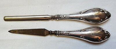 1914 Chester Silver Hallmarked Manicure Set By Boots Pure Drug Company