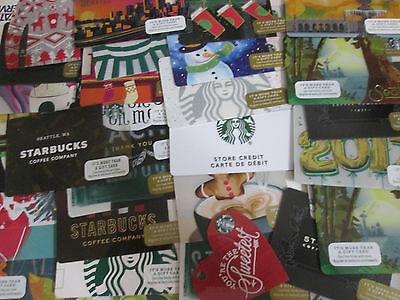 Lot Of 50 2016 Starbucks Seattle Gift Card No Value