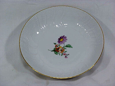 Vintage KPM Small Bowl Raised and Floral Design with Gold Edge