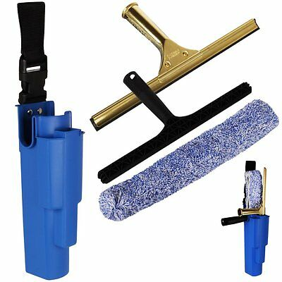 "14"" THE CHEMICAL HUT® Professional Window Cleaning Kit - Includes Brass Squeegee"