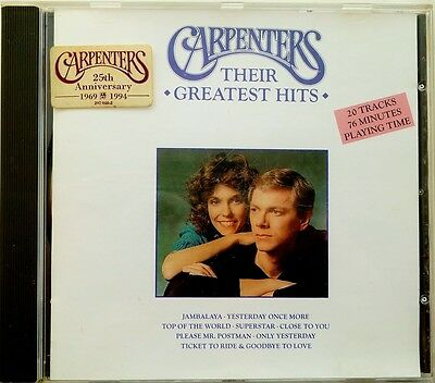 The Carpenters Greatest Hits CD