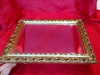 Ornate Antique French Style Gilt Dressing Table Free standing Mirror Shabby chic