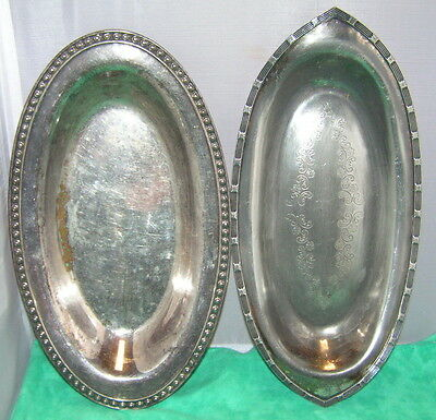 Two Silverplate Trays ~ Scrap or use ~ Rogers ~ Monarch