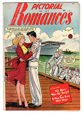 Pictorial Romances #6 Matt Baker Cover & Art Gga Navy Gd/vg Scarce 1951 St. John