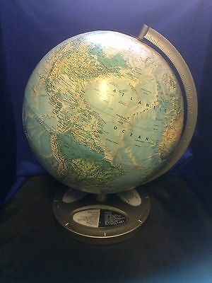 Vintage Rand McNally World Globe Unique Question Answer Base Made In USA