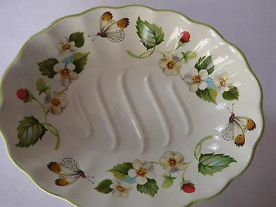 James Kent 'Old Foley' Strawberry Soap Dish, Green-Butterflies