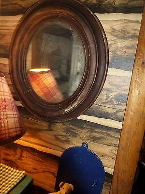 """Early Old Mirror,Nice Old Glass 18"""" X 16"""" Simple & Plain Perfect w/ Primitives"""