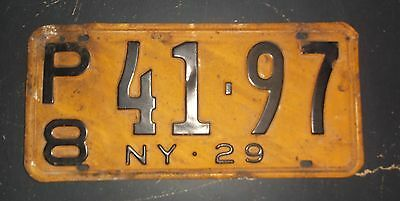Vintage 1929 New York State License Plate