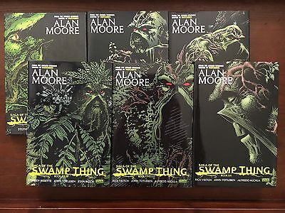 Saga Of The Swamp Thing Complete HC Set Vol. 1 2 3 4 5 6 Alan Moore Hardcover