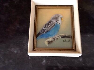 Miniature Painting From The Hamilton Collection Blue Budgerigar