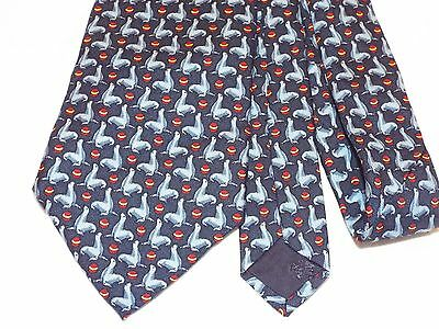 Brooks Brothers Men's Tie 100% Silk Made In Usa