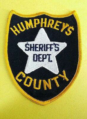 Humphereys County, Mississippi Sheriff Black (Police) Shoulder Patch Ms