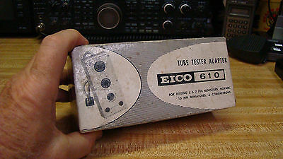 Eico 610 Tube Tester Adaptor For Model 626 And 666 Testers