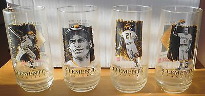 Set of 4- ROBERTO CLEMENTE EAT'N PARK GLASSES. ALL-STAR GAME PROMOTION 1994