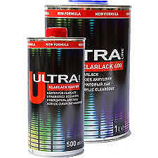 2k CLEAR COAT GLOSS LACQUER CRYSTAL CLEAR & HARDENER 1.5L KIT CAR PAINT SPRAY
