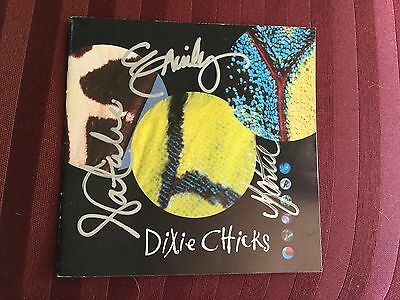 """1999 Dixie Chicks - """"Fly"""" CD booklet autographed by all three Dixie Chicks !!!"""