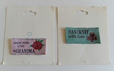 Vintage Sewing Tags To Personalize Gifts Set Of 2