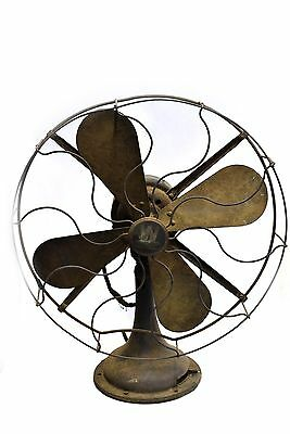 """Antique Westinghouse 16"""" Brass Blade Electric Fan Style 64851G"""