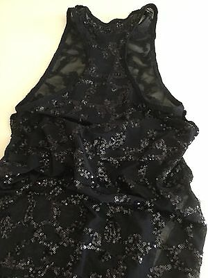 Contemporary Or Jazz Dance Black Sequins Overlay Dress Size Small Adult/XL Child