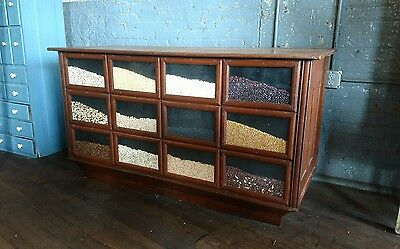 Seed Bean Country Primitive Counter Store Kitchen Island Farmhouse