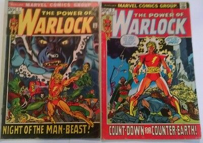 The Power of WARLOCK #1 and #2 Marvel comic 1972 Premier Issues!