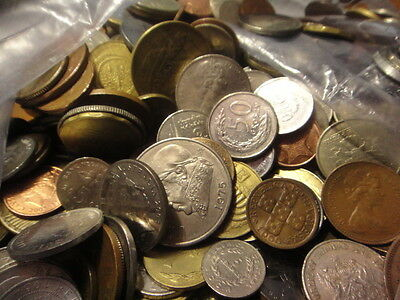 """2 POUND """"BULK"""" WORLD FOREIGN COIN LOTS """"Kids Love Coins!"""" 34"""