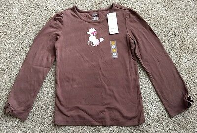 Gymboree Girls Brown Poodle Long Sleeve Top- New with Tags - Size 9 -NWT