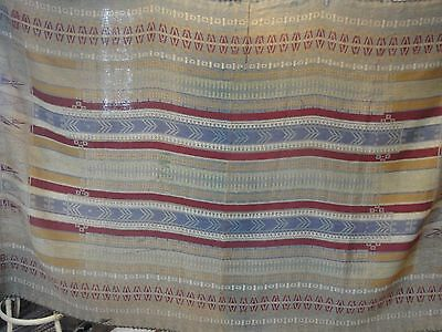 Antique Large 57 X 84 In. Woven Bed Coverlet, Blanket, Jacquard