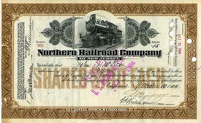 1904 Northern RR Co of New Jersey Stock Certificate