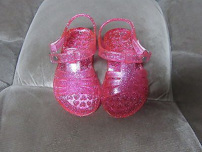 Toddler Girls Sandals Unbranded Size S (5-6) Pink Jelly Sandals