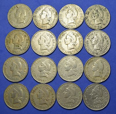 DR205 Dominican Republic Coins: *LOT OF 16* 50 Centavos