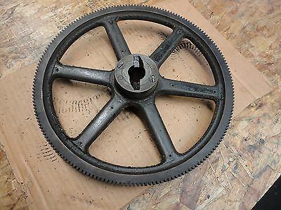 """Vintage Large 13"""" dia Cast Iron Metal toothed Gear  Steampunk Art or Lamp Base"""