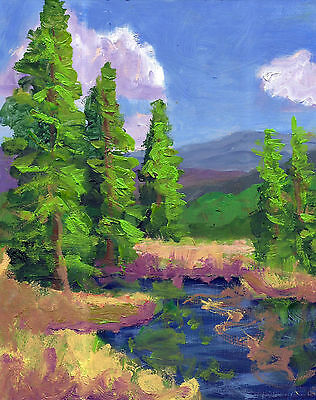 "10x8""original oil painting plein air painting contemporary art By Ken Burnside"