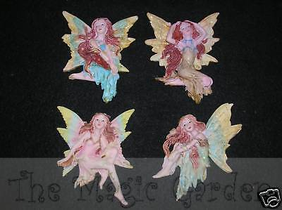 Set of fairy fairies plaster cement resin garden craft latex moulds molds