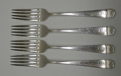 RARE Durgin Sterling FUSILIERS MONT ROYAL Montreal REGIMENTAL Silver FORKS 1907