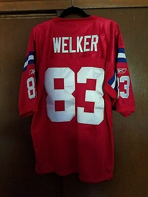 Wes Welker, New England Patriots, NFL Onfield Throwback Jersey by Reebok size 54