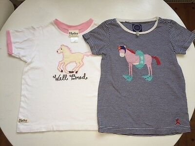 HATLEY JOULES 3T 4T horse girls T shirt lot Sea Horse Well Bred equestrian