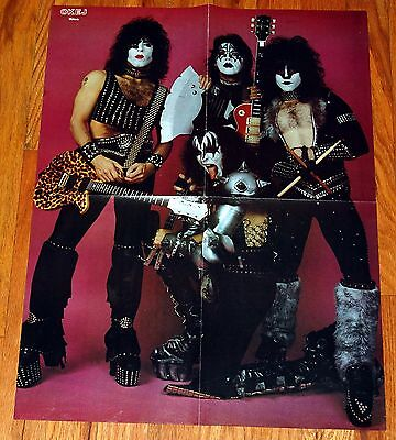 KISS 1982 Creatures Pink Background Outtake Poster Magazine Centerfold Gene Ace