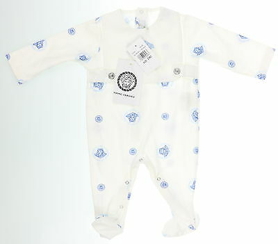 New With Tags Unisex Newborn VERSACE White 100% Cotton One-Piece Size 3M
