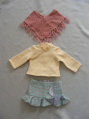 American Girl Doll Clothes Grace Sightseeing Outfit Shawl Top And Skirt Lot