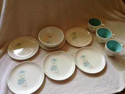 Vintage 10-pc Taylor Smith Boutonniere Ever Yours Cups Bowl Small Plates
