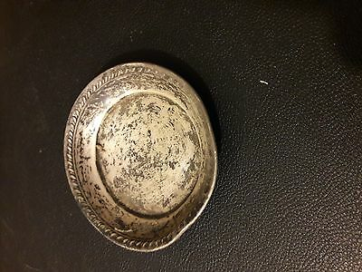 Small Sterling Silver  Round Tray Dish 3""